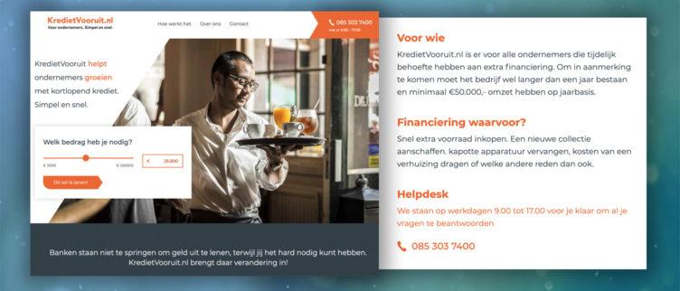 screenshots KredietVooruit.nl