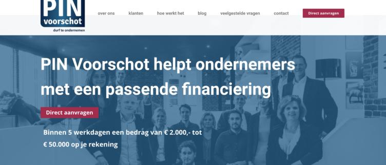 screenshots PIN Voorschot