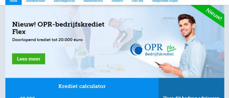 Screenshot OPR-Bedrijfskrediet app